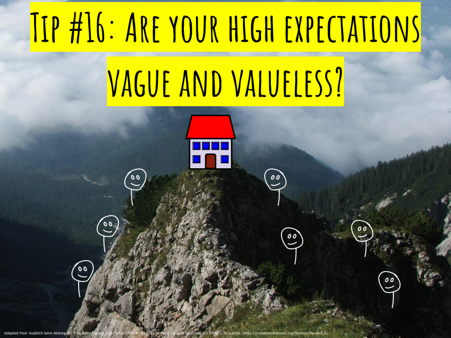 CC - Tip #16 – Are your high expectations vague and valueless