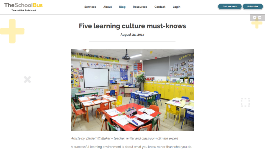 5 learning culture must-knows - The School Bus - Pic
